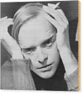 Truman Capote 1924-1984, Southern Wood Print by Everett