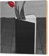 Tulip In A Book Wood Print by Joana Kruse