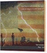 Usa Patriotic Operation Geronimo-e Kia Wood Print by James BO  Insogna