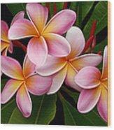 Wailua Sweet Love Wood Print by Sharon Mau