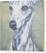 Whippet Wood Print by Lee Ann Shepard