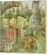 Wrong World Wood Print by Kestutis Kasparavicius