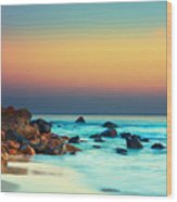 Sunset Wood Print by MotHaiBaPhoto Prints