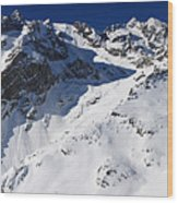 Serre Chevalier In The French Alps Wood Print by Pierre Leclerc Photography