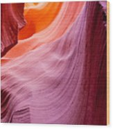 Antelope Canyon Wood Print by Sabino Parente