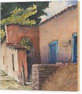 1247 Agua Fria Street Wood Print by Sam Sidders