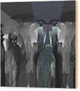 127 -  Nightwalkers Dark Wood Print by Irmgard Schoendorf Welch