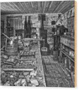 1860's Ore Assay Office Shop - Montana Wood Print by Daniel Hagerman