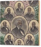 1883 Print Commemorating Wood Print by Everett