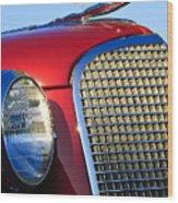 1937 Cadillac V8 Hood Ornament 2 Wood Print by Jill Reger
