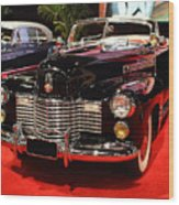 1941 Cadillac Series 62 Convertible Coupe . Front Angle Wood Print by Wingsdomain Art and Photography