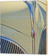 1941 Lincoln Continental Cabriolet V12 Grille Wood Print by Jill Reger