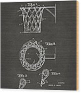1951 Basketball Net Patent Artwork - Gray Wood Print by Nikki Marie Smith
