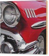 1958 Chevy Impala Wood Print by David Patterson