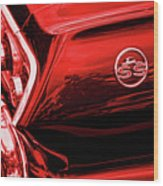 1963 Chevrolet Impala Ss Red Wood Print by Gordon Dean II