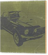 1968 Ford Mustang Wood Print by Naxart Studio