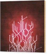 Circuit Board Wood Print by Setsiri Silapasuwanchai