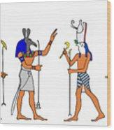 Egyptian Gods And Goddess Wood Print by Michal Boubin