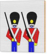 2 Guardsmen Wood Print by Asbjorn Lonvig