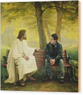Lost And Found Wood Print by Greg Olsen