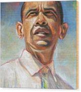 Obama 08 Wood Print by Dennis Rennock