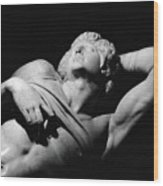 The Dying Slave Wood Print by Michelangelo Buonarroti
