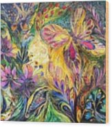 The Life Of Butterfly Wood Print by Elena Kotliarker