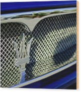 2002 Maserati Hood Ornament Wood Print by Jill Reger