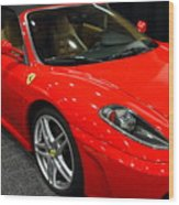2006 Ferrari F430 Spider . 7d9385 Wood Print by Wingsdomain Art and Photography