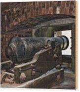 24 Pounder Cannon Wood Print by Peter Chilelli