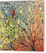 27 Birds Wood Print by Jennifer Lommers