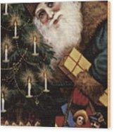 American Christmas Card Wood Print by Granger