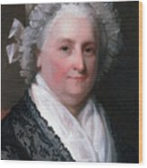 Martha Washington, American Patriot Wood Print by Photo Researchers