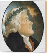 President Thomas Jefferson Wood Print by War Is Hell Store