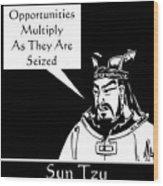 Sun Tzu Wood Print by War Is Hell Store