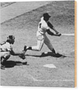 Willie Mays (1931- ) Wood Print by Granger