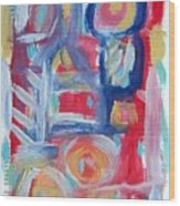 Abstract On Paper No. 31 Wood Print by Michael Henderson