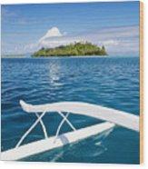 View Of Tahiti Wood Print by Joe Carini - Printscapes