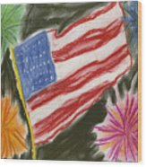 4th Of July Wood Print by Jessika and Art with a Heart In Healthcare