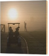 California Golf Course Sunrise Morning Golfers Wood Print by ELITE IMAGE photography By Chad McDermott