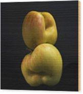 Apples Wood Print by Bernard Jaubert