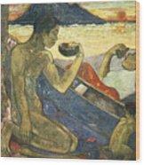 A Canoe Wood Print by Paul Gauguin