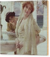 A Difference Of Opinion Wood Print by Sir Lawrence Alma-Tadema