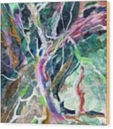 A Dying Tree Wood Print by Mindy Newman