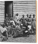 A Group Of Slaves Wood Print by Photo Researchers