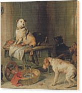 A Jack In Office Wood Print by Sir Edwin Landseer
