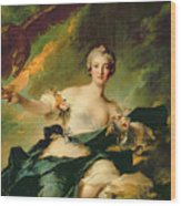 A Portrait Of Anne Josephe Bonnnier De La Mossau  Wood Print by Jean Marc Nattier