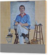 A Rockwell Tribute Wood Print by Michael Lewis