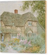 A Surrey Cottage Wood Print by Arthur Claude Strachan