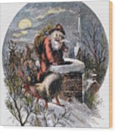 A Visit From St Nicholas Wood Print by Granger